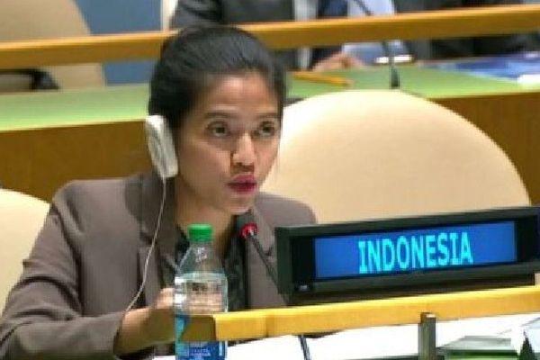 Nara Masista Rakhmatia, membre de la mission permanente de l'Indonésie auprès des Nations unies.