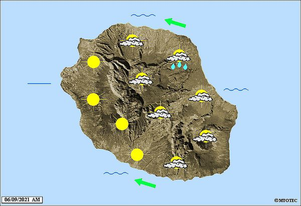 Carte météo 6 septembre 2021