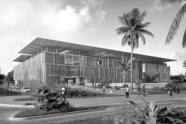 Le futur hôtel de police de Cayenne prend forme
