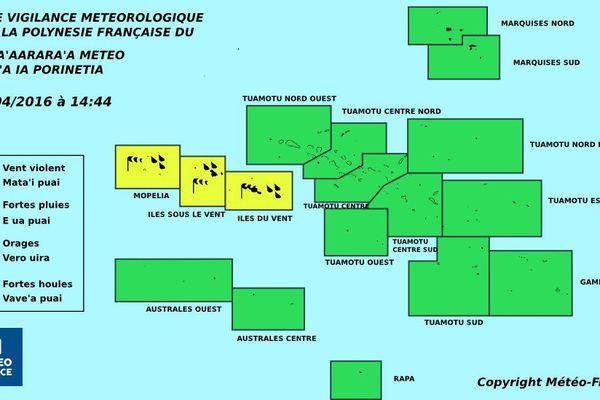 Vigilance jaune toujours en cours aux IDV et aux ISLV