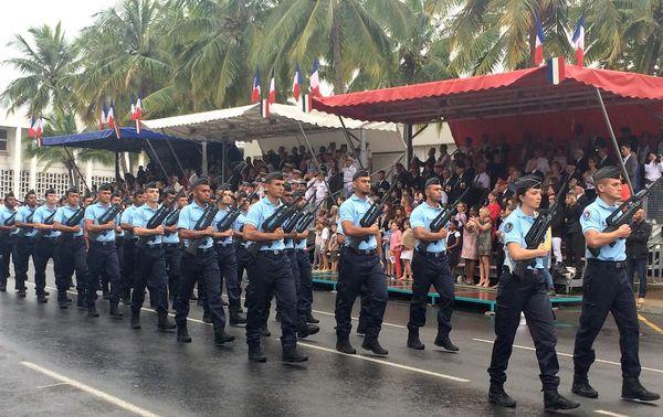 Défilé du 14 juillet 2018: gendarmes-adjoints volontaires.