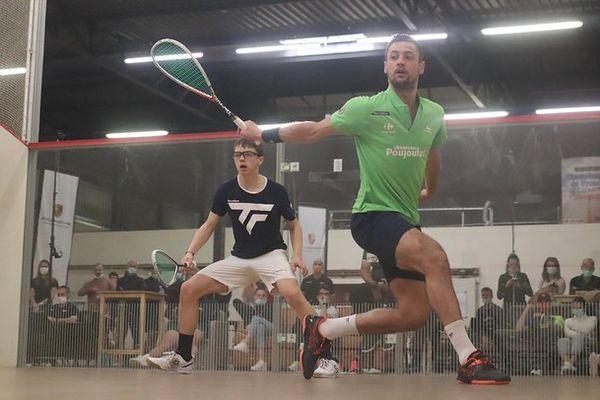 Brice Nicolas face à Baptiste Masotti en 8e de finale des championnats de France Elite