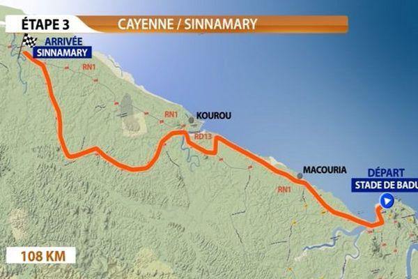 Profil de l'étape Cayenne-Sinnamary