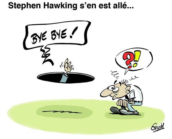 Le dessin de Souch : Stephen Hawking