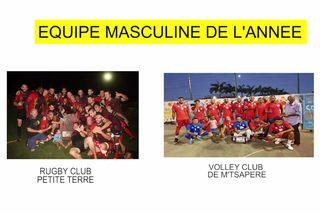 Nominée équipe masculine 2018 : Rugby Club Petite Terre & Volley Club de M'Tsapéré