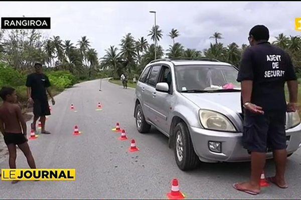 Premières épreuves du permis de conduire adapté à Fakarava