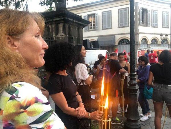 Manif contre réforme des retraites retraite aux flambeaux Saint-Denis 290120