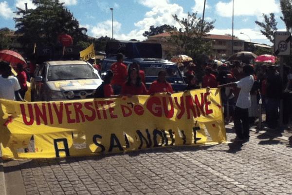 Manifestation étudiante Cayenne