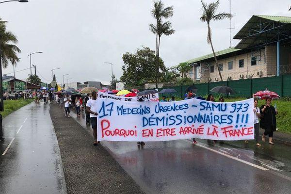 Les personnels hospitaliers dans la rue le 27 juin 2018