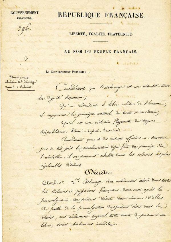Décret 27 avril 1848