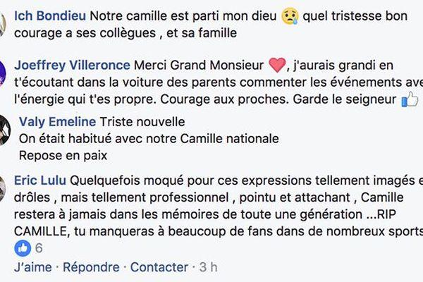 réaction décès Camille 1