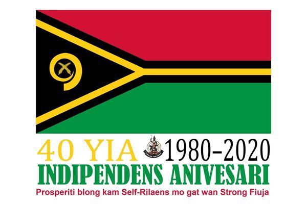 Emblème du quarantième anniversaire de l'indépendance au Vanutu, 2020