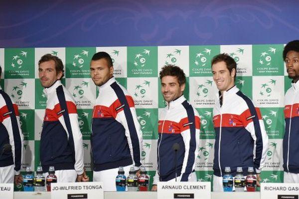 Gilles Simon, Julien Benneteau, Jo Wilfried Tsonga, Arnaud Clément, Richard Gasquet et Gaël Monfils
