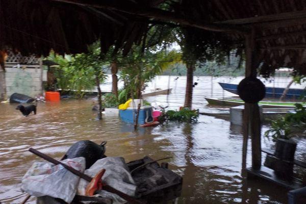 Le fleuve Oyack à Roura s'installe au village amérindien
