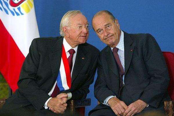 Gaston Flosse et Jacques Chirac le 26 juillet 2003 à Papeete