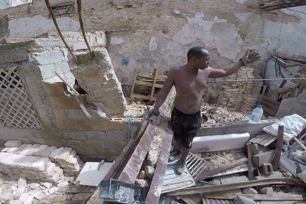 Cuba destruction des maison pendant le passage de l'ouragan Irma
