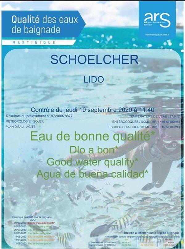 Eau du Lido à Schoelcher