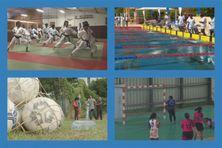 Karaté, natation, football et handball en Martinique.