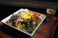Semoule du primeur et son gaspacho est la recette de Doris Dumabin pour Plézi Manjé