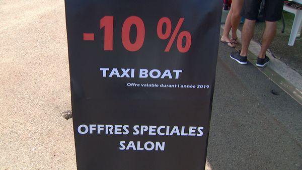 Evasion Sud sur le quai Ferry, tarif salon, 28 septembre 2019