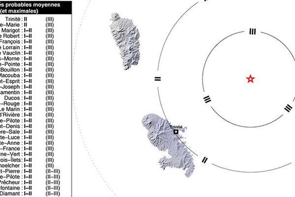 Carte séisme