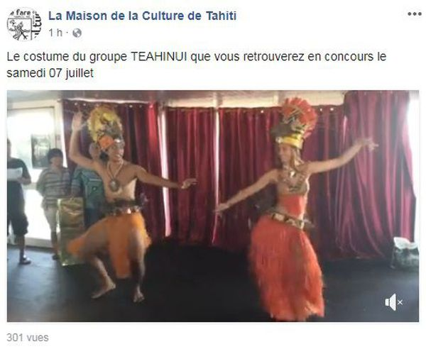 Costume du groupe TEAHINUI