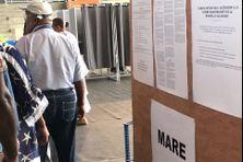 Les bureaux de vote délocalisés lors du référendum du 4 novembre 2018.