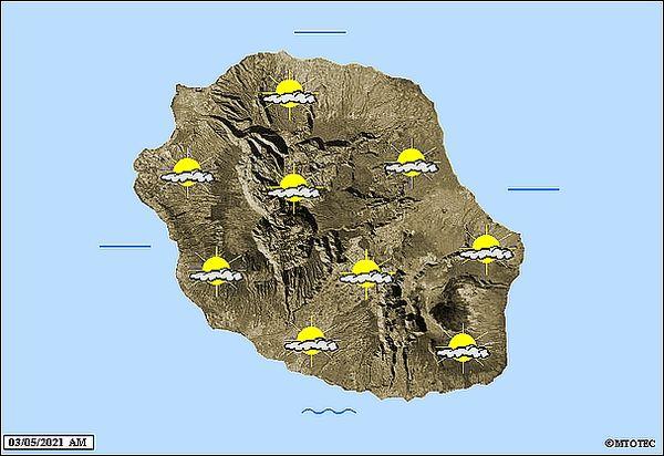 Carte météo 3 mai 2021