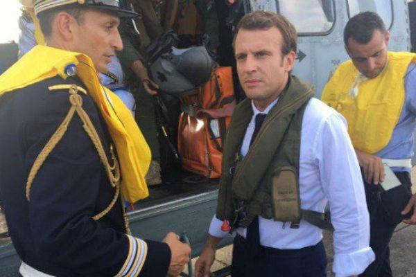 Départ de Macron pour St-Martin