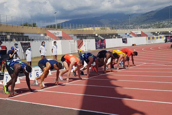 Départ 110m haies du décathlon
