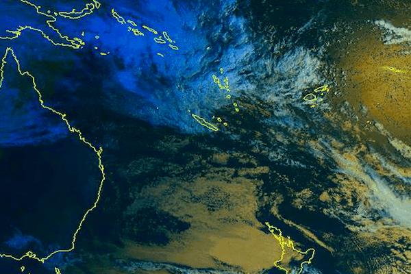 Vue satellite Nouvelle-Calédonie