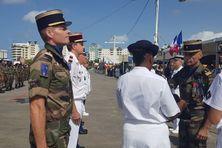 La cérémonie militaire du 14 juillet 2019 sur le front de mer à Fort-de-France.