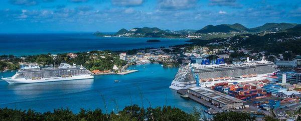 Sainte Lucie port de Castries