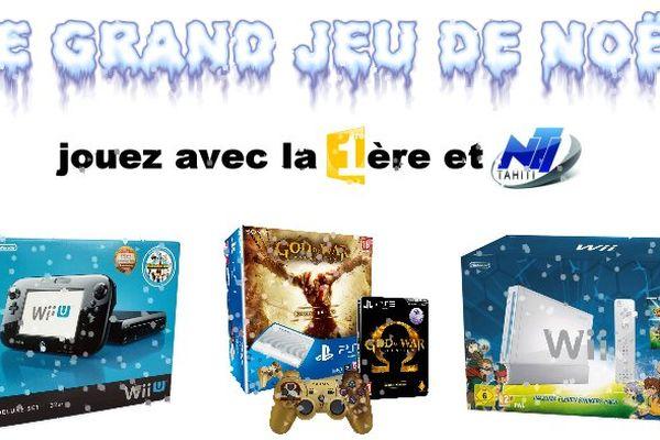 Tentez votre chance au grand jeu de Noël : Wii U, PS3, Wii
