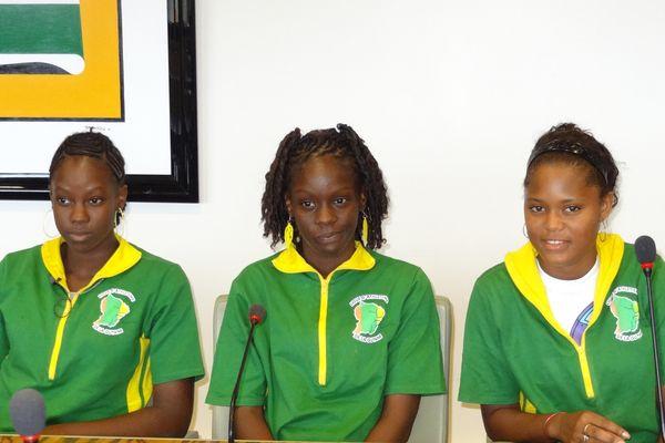 Les athlètes sélectionnées pour les Carifta Games