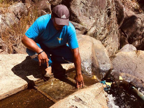 Captage d'eau, Ouégoa, janvier 2019