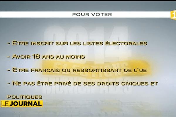 Municipales : qui peut voter ?