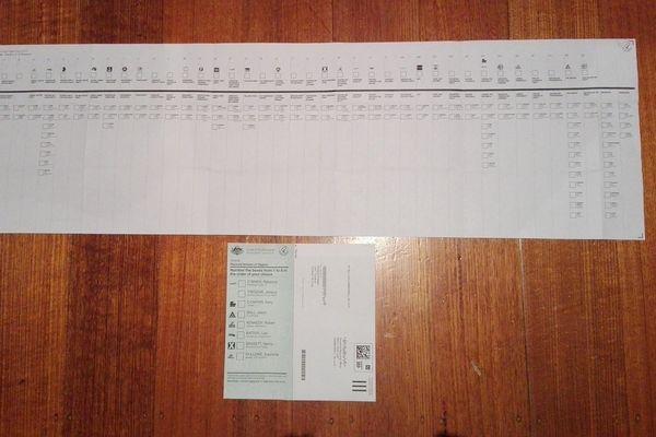 Australie. Bulletin de vote.