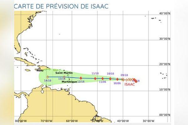 "Carte prévision ""Isaac"""
