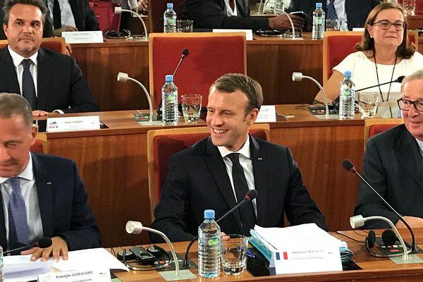 Le président Macron