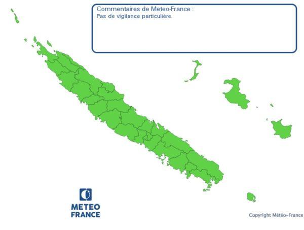 Carte vigilance météo verte