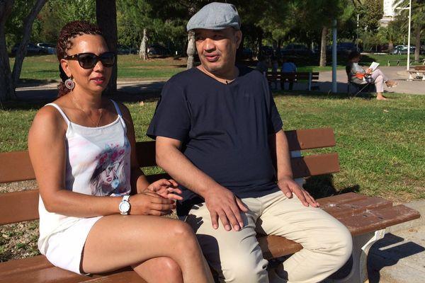 Sylvie Arcos et jean-Bernard Pranville, plage du Mourillon à Toulon