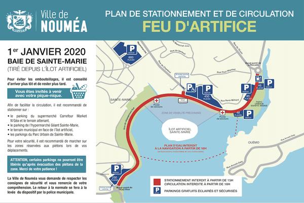 Nouméa : plan circulation pour le feu d'artifice du réveillon 2019