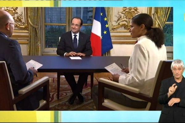 Entretien avec le Président de la République, François Hollande