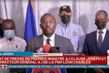Point presse du Premier ministre suite aux recherches pour retrouver les meurtriers présumés du président Jovenel Moïse