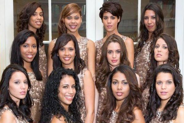 les 12 candidates Miss Réunion 2013