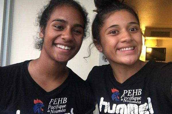Espoirs du handball féminin, Cassidy Chambonnier et Norah Folituu.
