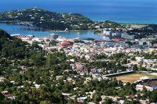 Castries, la capitale de Sainte Lucie.