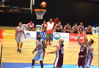 Samoa 2019, défaite des basketeurs calédoniens face à Tahiti