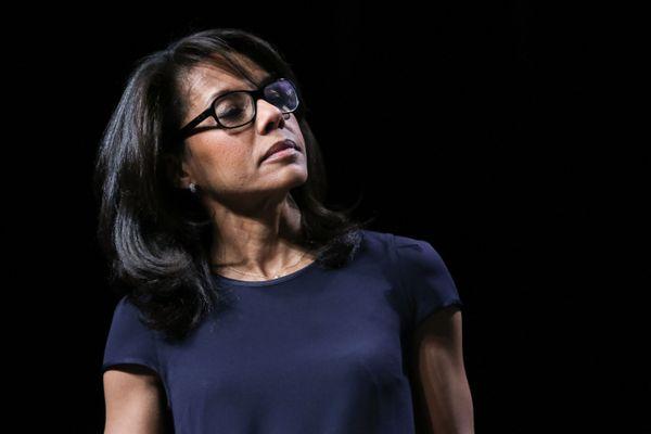 Audrey Pulvar lors de la campagne des municipales 2020